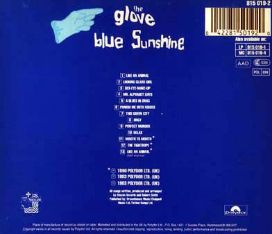 Blue Sunshine CD Back Cover