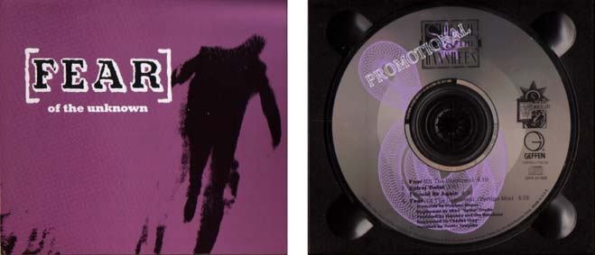 Fear (Of The Unknown) US Promo CD Single Inside