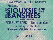 Finsbury Park Ticket - Click Here For Bigger Scan