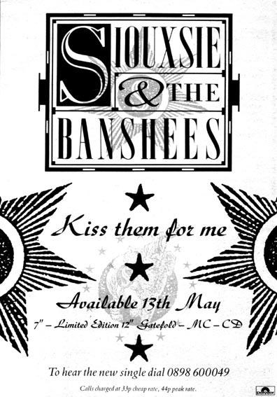 Kiss Them For Me Advert - Click Here For Bigger Scan