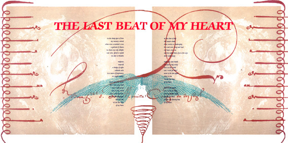 "The Last Beat Of My Heart 12"" Single Gatefold Sleeve Back"