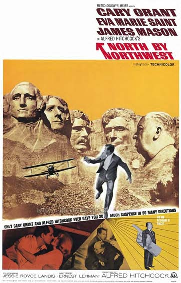 North By Northwest Film Poster - Click Here For Bigger Scan
