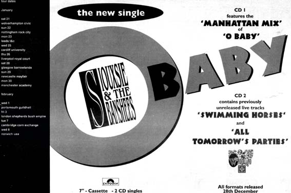 O Baby Advert - Click Here For Bigger Scan