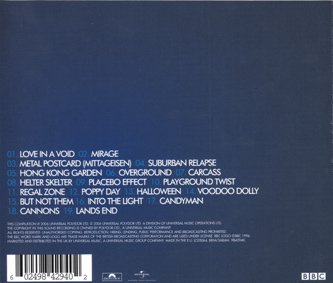 Voices On The Air: The Peel Sessions CD Back Cover