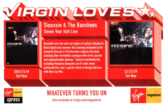 The Seven Year Itch Live DVD Advert - Click Here For Bigger Scan