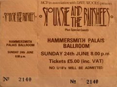 Hammersmith Palais 24/06/84 Ticket - Click Here For Bigger Scan