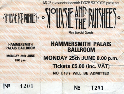 Hammersmith Palais Ticket 26/06/84 - Courtesy Of Pierrelemer - Click Here For Bigger Scan
